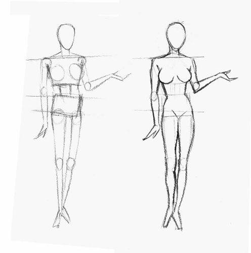 17 best images about A-mannequin drawing for fashion design on ...