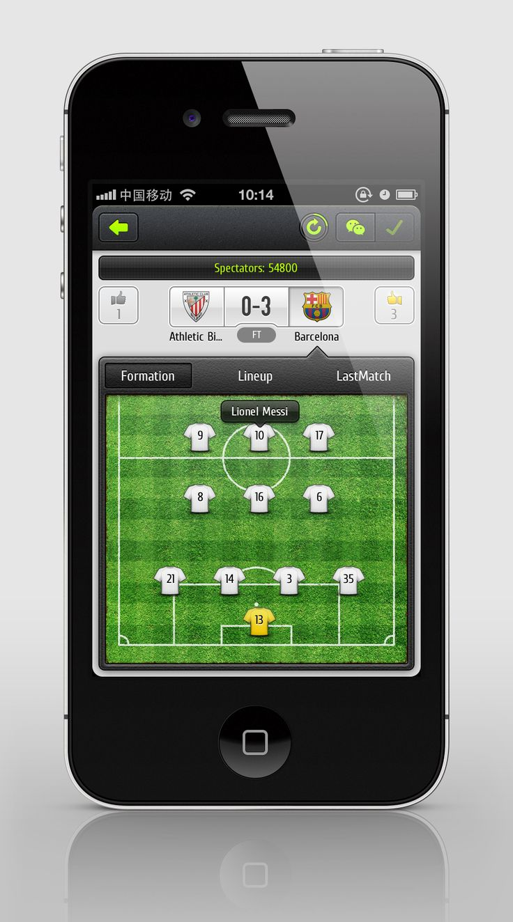 iOS Soccer / game app to inspire designers & developers