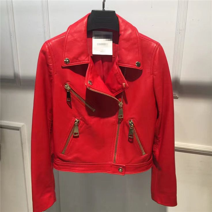 >> Click to Buy << Fashion Real Leather Jacket Women Classic Female Leather Jacket Locomotive Style Red Black Color Women's Genuine Sheepskin Coat #Affiliate