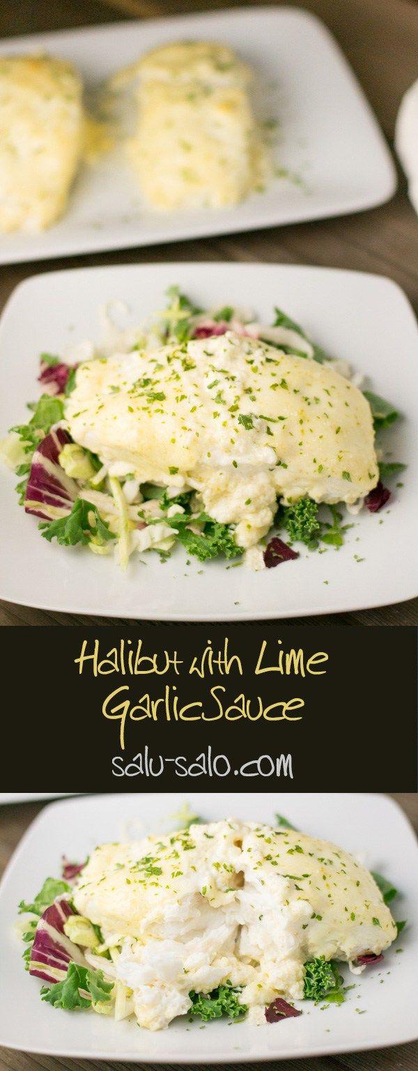 Halibut with Lime Garlic Sauce