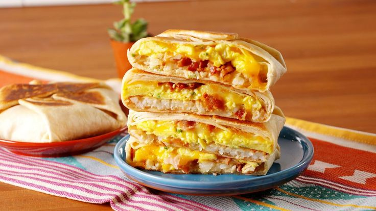 Breakfast Crunchwrap Supreme - would be great for camping!