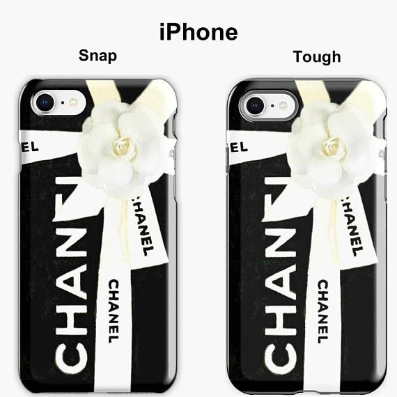 best website a454c 5dd2f Black Chanel iPhone Case, Chanel Box, Watercolor Phone Case, iPhone ...
