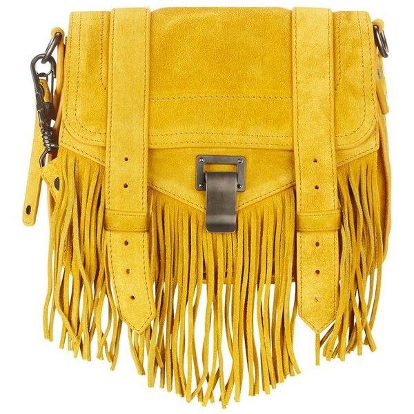 Proenza Schouler PS1 Mini Fringe Suede Satchel ($1,525) found on Polyvore featuring bags, handbags, bolsos, mini purse, proenza schouler handbags, mini satchel handbags, miniature purse and satchel purse