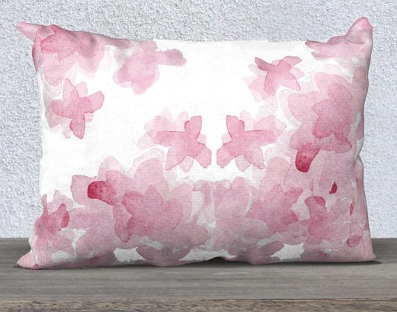 Pink Nursery Pillow Watercolor Pillow Case Pink Pillow Case