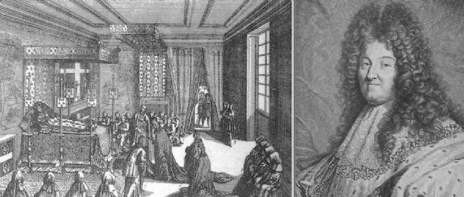 1er septembre 1715 ♦ Louis XIV meurt de la gangrène dans l'indifférence générale des Français.