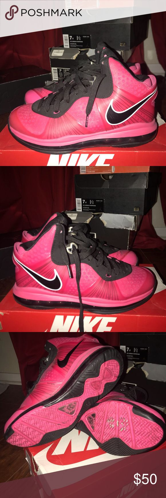 Pink Lebrons Great condition. Worn a few times. Shoes Athletic Shoes