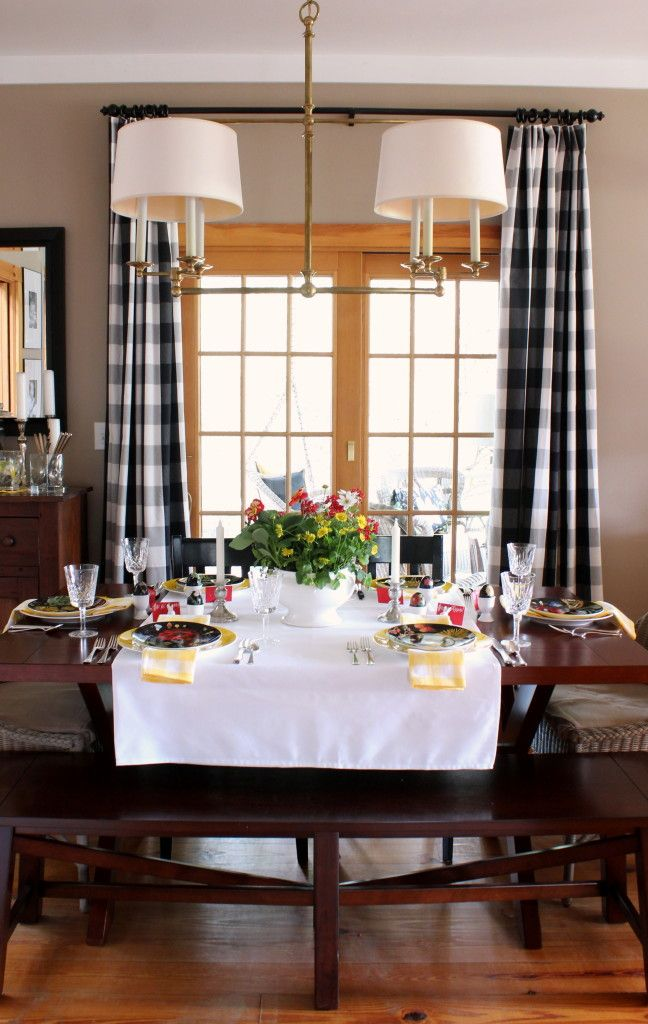 dining room buffalo check drapes for the home pinterest home