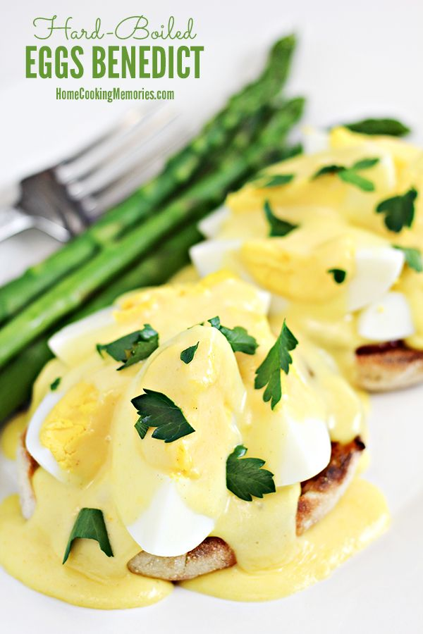 This Hard Boiled Eggs Benedict recipe is a delicious springtime brunch recipe with a twist on the traditional eggs benedict breakfast. If you have leftover Easter eggs, this is a great way to use them up!