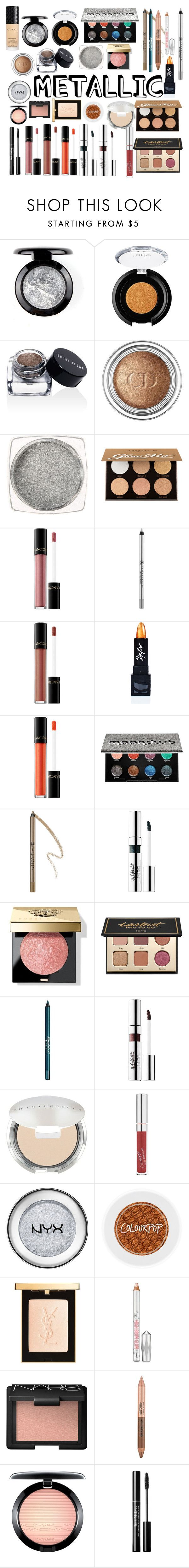 """Metallic💅🏻👣"" by mariegranja ❤ liked on Polyvore featuring beauty, tarte, Bobbi Brown Cosmetics, Christian Dior, Anastasia Beverly Hills, Lancôme, The Lip Bar, Urban Decay, BeYu and Chantecaille"