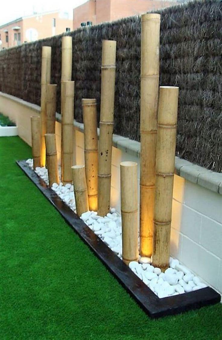 garden decor art with Bamboo