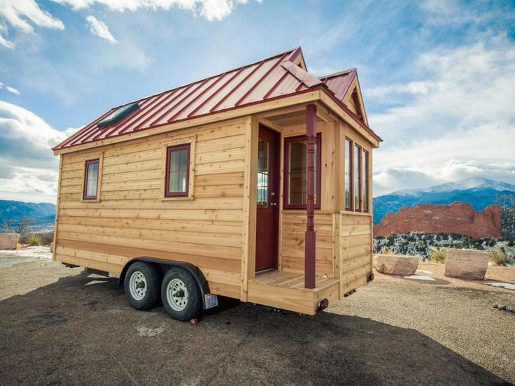 Tumbleweed Houses are designed to weather all seasons, climates and personalities. The Cypress makes use of the most interior space, by incorporating a recessed corner porch affording the interior living area more space.