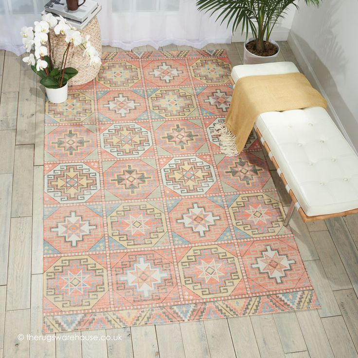 NEW: Madera Tribal Rug, a modern machine made rug with a fading vintage look tribal pattern (machine-woven, polyester, 152 x 213cm (5ft x 7ft))  http://www.therugswarehouse.co.uk/traditional-rugs/madera-rugs/madera-tribal-rug.html