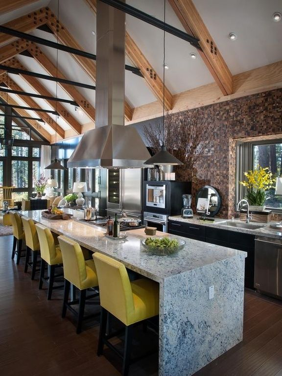 Eclectic Kitchen- pop of yellow