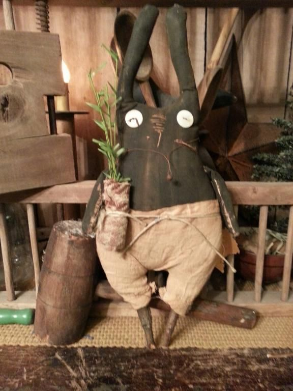 primitive handmade mercantile 17 best images about rabbits on primitive doll 319