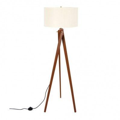 Coromandel 3 legged Floor Lamp (Light Brown)