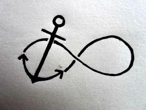 Anchor and infinity tattoo idea    #Tattoo  #Tatts  #Tatt  #Tats  #Tat  #Inked  #Ink  #Body  Art