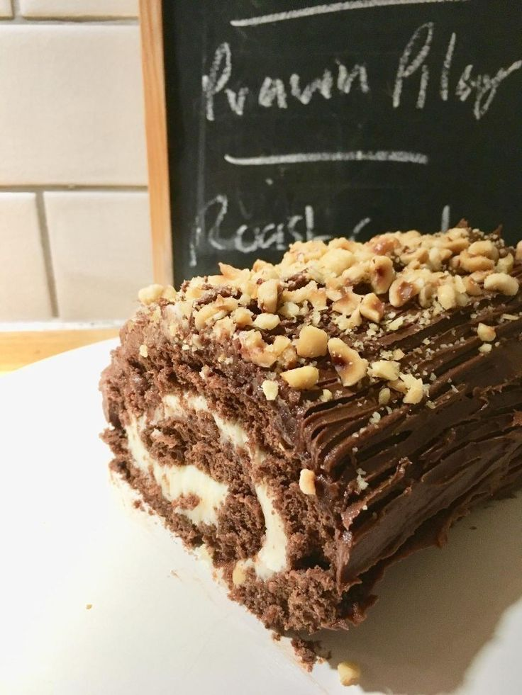 Chocolate nut cake recipe a yule log is not just for