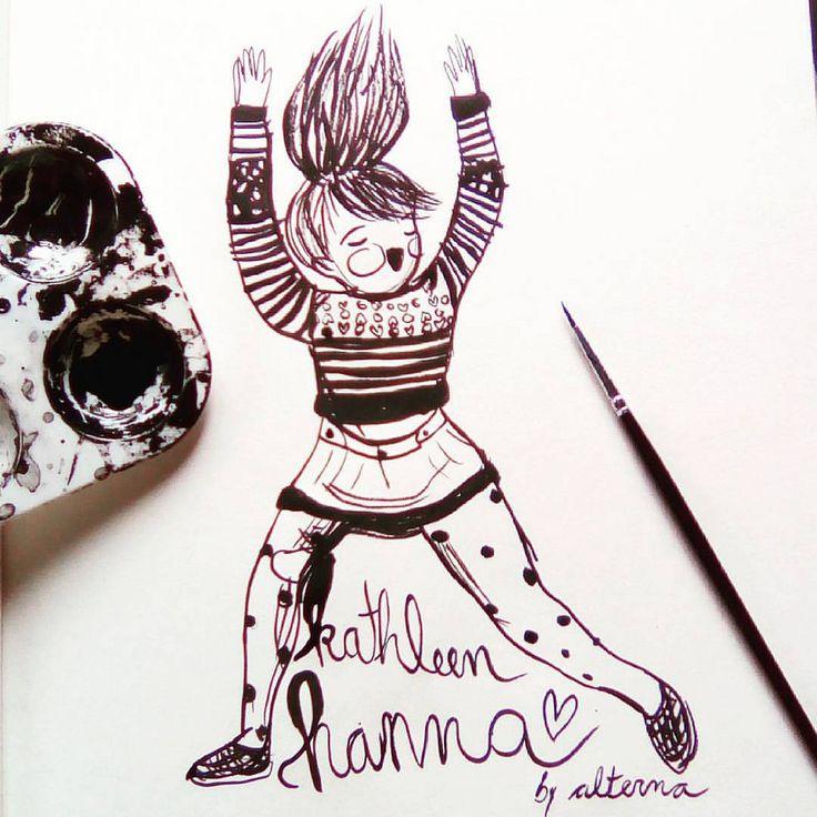 https://flic.kr/p/MxDTgs | Kathleen Hanna ( le Tigre , bikini kill ... bla bla bla) incredible girl💛  #inktober #inktoberday8 #inktober2016 #alterna #kathleenhanna #letigre #bikinikill #feminism #feminismo #tintachina #ink #riotgrrrl #riot #power #femmepower #femme #fe