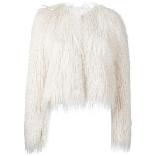 Giamba fur effect cropped jacket (36.960 RUB) ❤ liked on Polyvore featuring outerwear, jackets, white, giamba, white cropped jacket, cropped jacket, fur jacket and white jacket