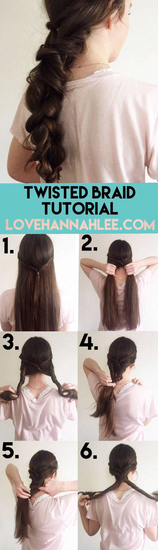 Twisted Braid Tutorial   Love Hannah Lee, by Hannah Martin