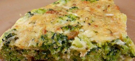 torta de frango com brocolis dukan