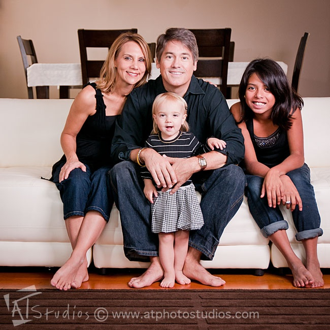 Indoor family photoshoot photography by a t studios los angeles ca www atphotostudios