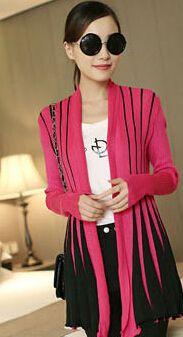 Для отдыха тонкий цвет полосатый вязаный кардиган шаль женские длинные свитер-пальто новинка 2016 женские эластичные большой ярдов свитера женские куртка