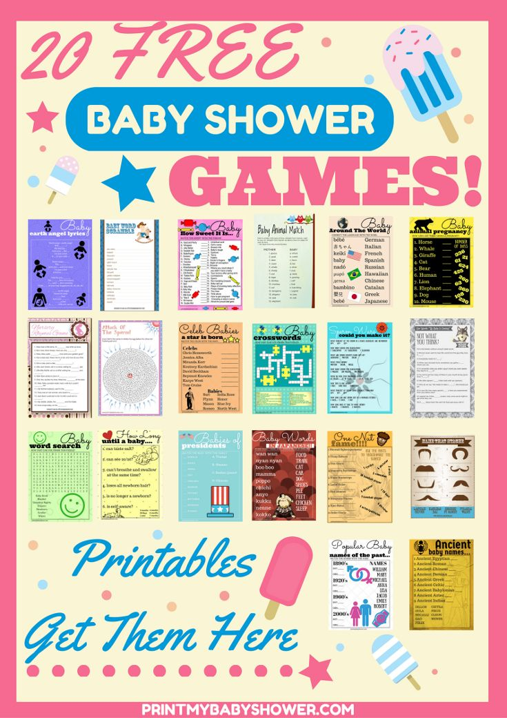 Printable Baby Shower Games | Free Baby Shower Games  Get over 18 free baby shower games at no cost to you!   We have all sorts of games that you can play with your guests.  Crossword Baby Games Word Search Baby Games Mustache Baby Shower Games Who Knows Mommy Best Game And much more...