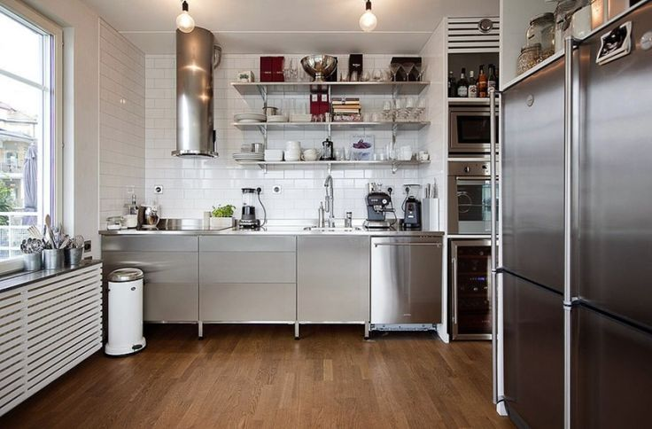 Modest Small Kitchen Stainless Steel Appliances