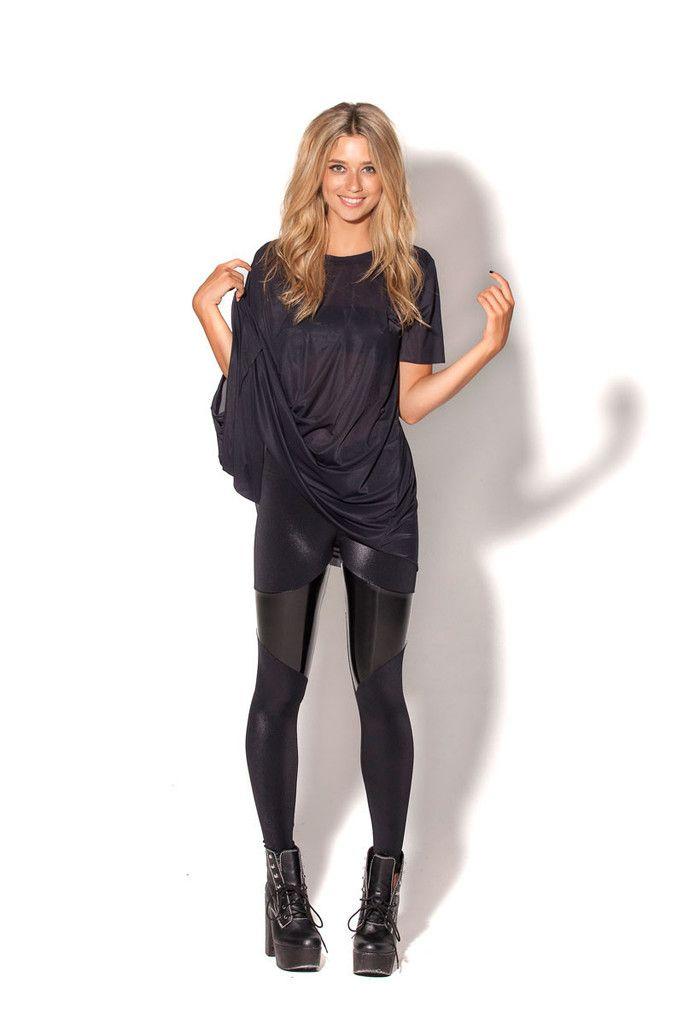 Spartans Black PVC Leggings – Black Milk Clothing Size Medium