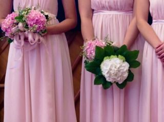 Hortensias roses et blancs