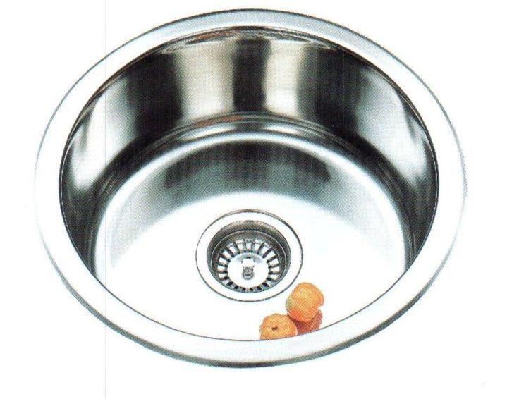 Single Round Bowl Kitchen Sink - Bathware Direct $56