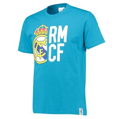 Real Madrid Large Crest T-Shirt - Teal - Mens: Real Madrid Large Crest T-Shirt - - Men's   This Real… #RealMadridShop #RealMadridStore
