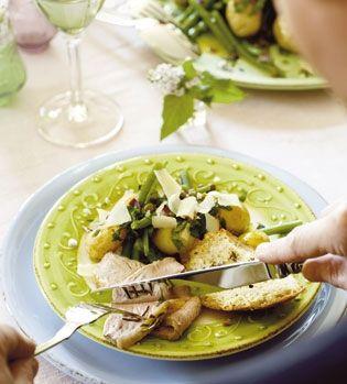 Kartoffelsalat med bønner og kapers