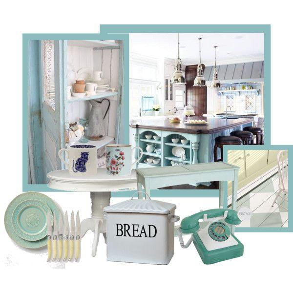 """""""Aqua Shabby Chic Kitchen"""""""