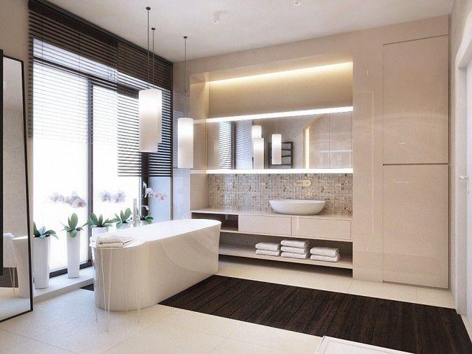 drewniany pas na podłodze (kolor za ciemny, chodzi o idee połączenia kafelek z drewnem na podłodze), sam kolor łazienki nieco za mdły