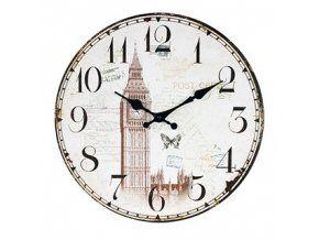 Kulaté  nástěnné hodiny 34 cm - LONDON