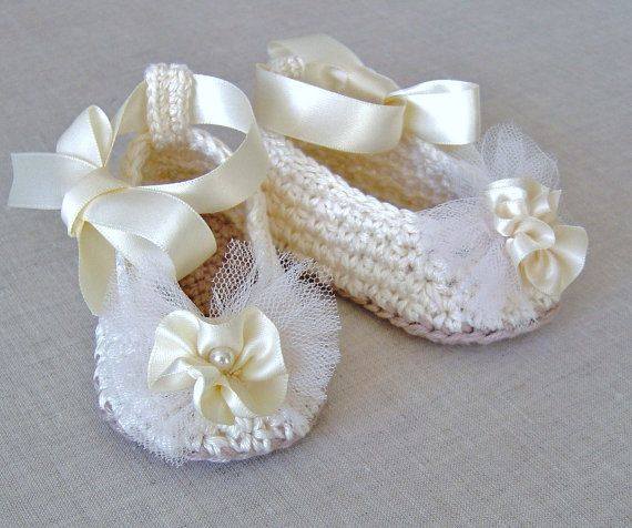 Crochet Pattern Baby Ballerina Slippers Baby Wedding Shoes Crochet Pattern Digital File Instant Download