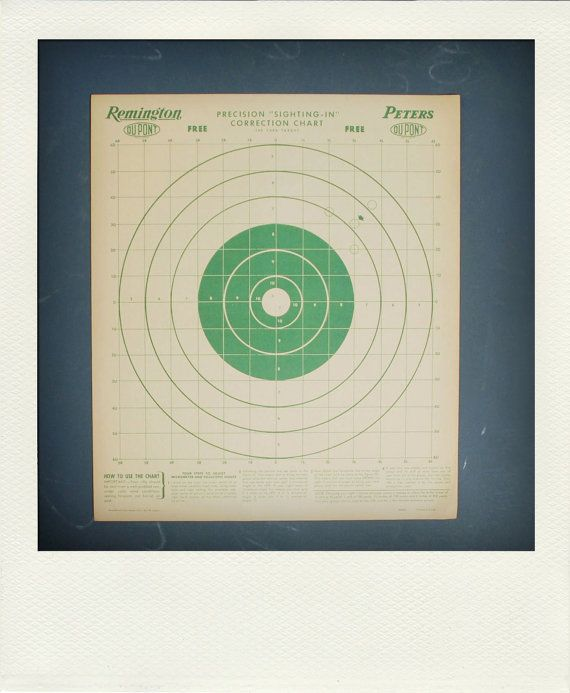 Vintage Graphic Paper Shooting Target Print by 26olivestreet