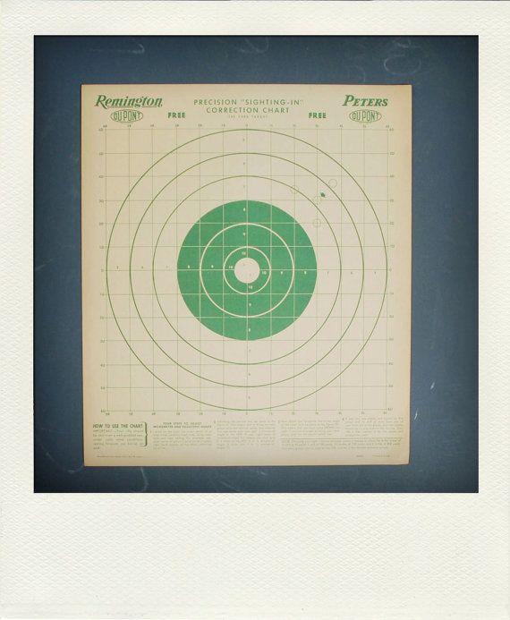 Vintage Graphic Paper Shooting Target Print by 26olivestreet