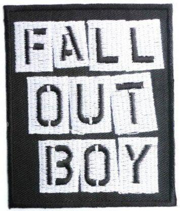 FALL OUT BOY Logo Heavy Metal Band Music Iron On Patch Tshirt Transfer Motif Applique Rock Punk Baseball Cap Hat Badge
