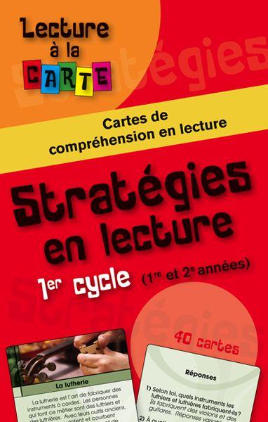 Lecture à la carte - Stratégies en lecture 1er cycle - Éditions de l'Envolée