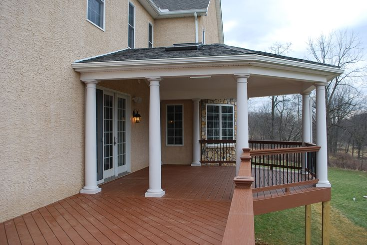 Raised deck designs google search deck ideas for Balcony roof ideas