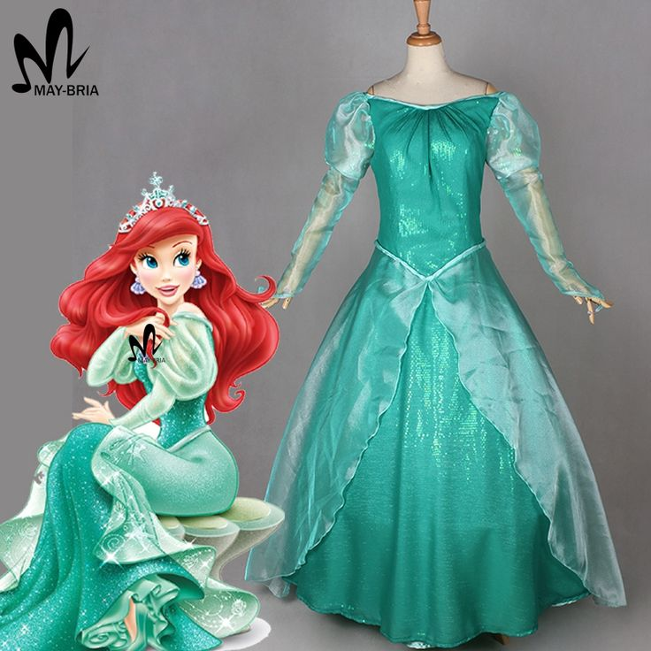 sexy costumes for women adult The little Mermaid princess Ariel Cosplay costume Halloween princess Ariel dress Mermaid dress #Affiliate