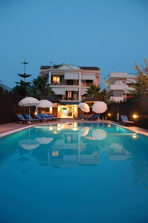 By the pool of Santa Maura in Nydri