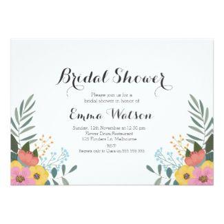 21 best boho weddings images on pinterest boho wedding rustic floral bridal shower invitation stopboris Images