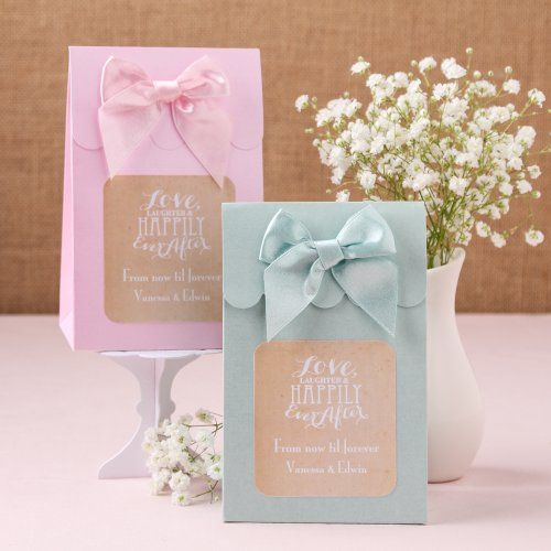 Personalized Wedding Themed Candy Bags by Beau-coup