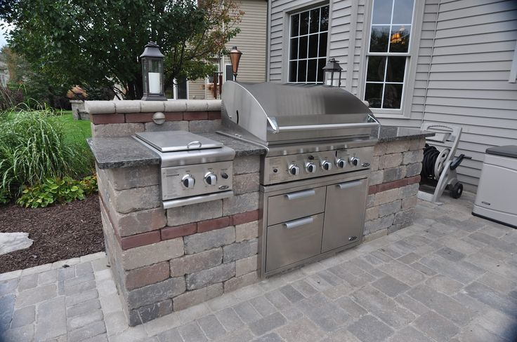 Inspiring Outdoor Summer Kitchen Design Ideas : Great Outdoor Summer Kitchen  Design With Kitchen Grill And Stove With Natural Stone Surround Ideas
