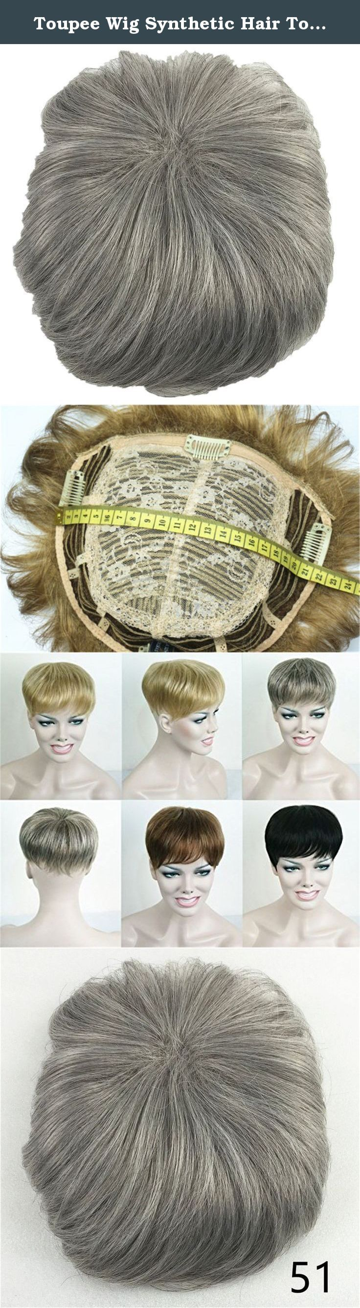Toupee Wig Synthetic Hair Toupees Hair Loss Top Piece Wigs (51# Grey Mix). Condition: All wigs are brand new and never been worn . Material: All wigs is Man- Made with high quality Japanese Monofilament top and Kanekalon Fiberand which grew the synthetic fiber in human hair way which made the hair as human hair. But the material is synthetic fiber. Features : 1.All wigs are hand made by professional skill workers! 2.There is a lightest netting cap which is able to adjust most people`s…