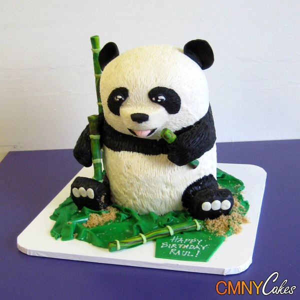 how to make a panda bear cake